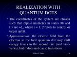 realization with quantum dots3