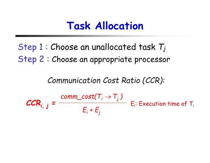 Task Allocation