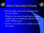 more facts about gravity