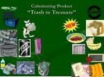 culminating product trash to treasure