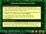 economic downturn of 1937