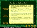 the end of the new deal
