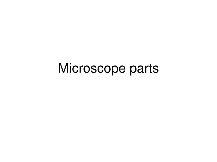 microscope parts n.