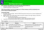 test phase exit criteria