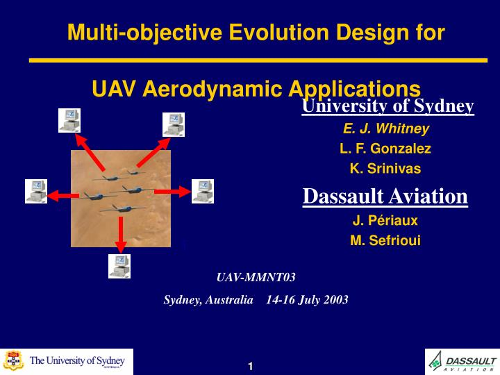 multi objective evolution design for uav aerodynamic applications n.