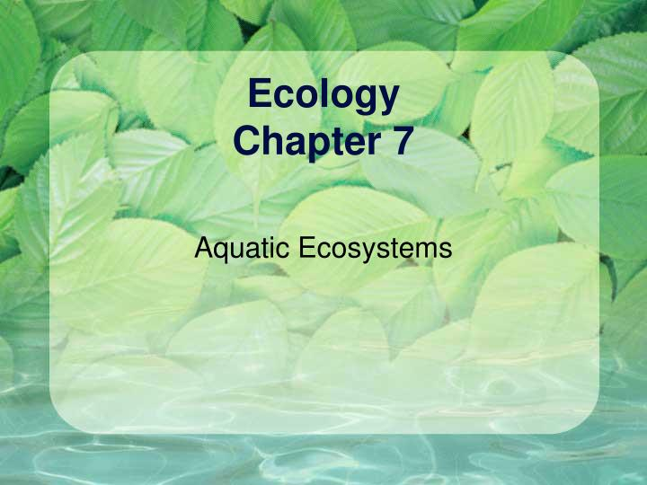 ecology chapter 7 n.