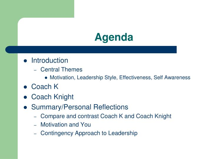leadership styles of coach knight and coach k Coach college basketball success bob knight was fired from his former role as basketball coach at indiana university and participated in the same role at texas tech consider these facts in the context of his long career and provides a framework for discussion of the different styles of power, influence and persuasion in his leadership.