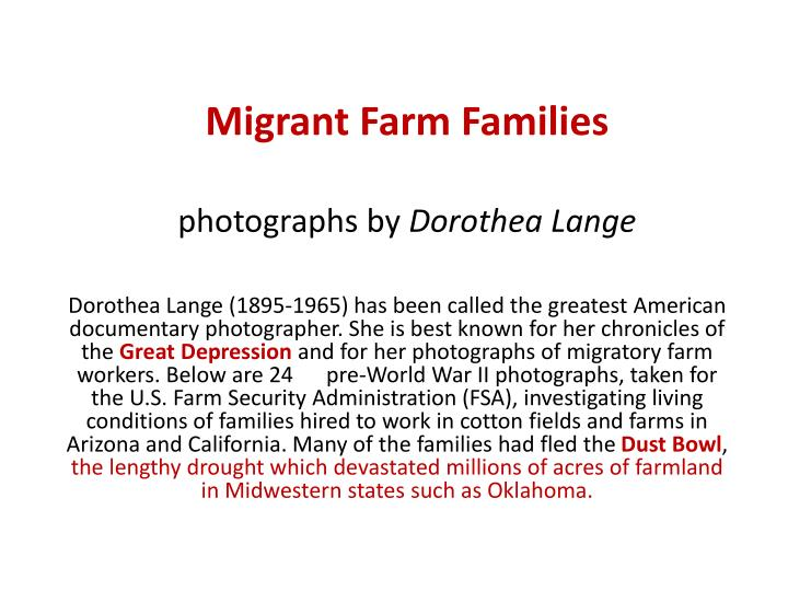 migrant farm families photographs by dorothea lange n.
