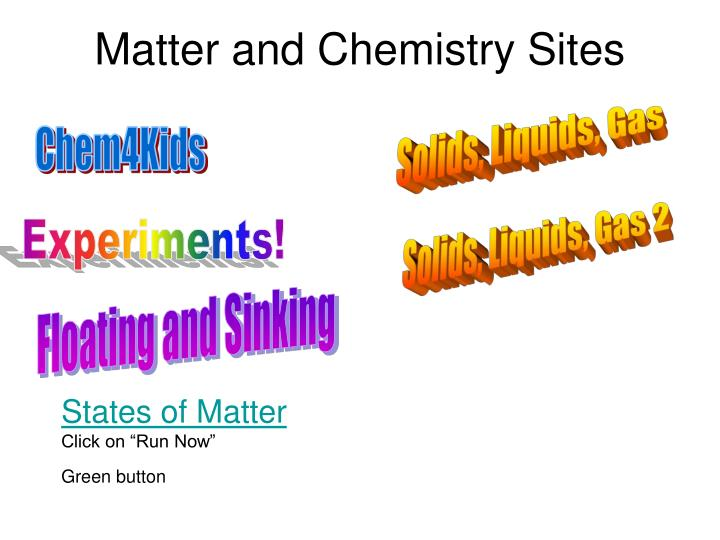 matter and chemistry sites n.