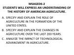 msaged6 2 students will express an understanding of the history of american agriculture
