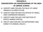 msaged6 6 demonstrate an understanding of the area of animal science