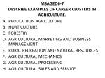 msaged6 7 describe examples of career clusters in agriculture