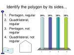 identify the polygon by its sides