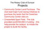the rotary club of duncan projects1