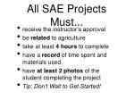 all sae projects must