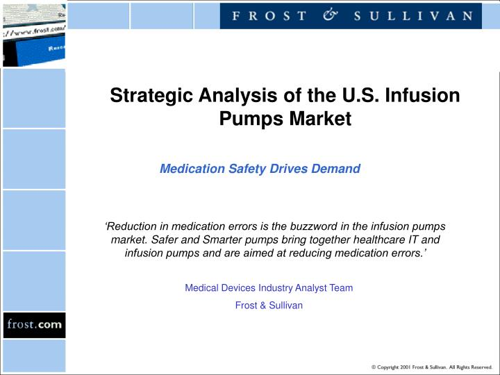 strategic analysis of the u s infusion pumps market n.