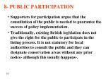 8 public participation