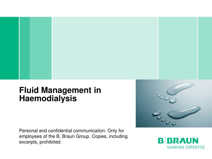 fluid management in haemodialysis n.