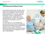 fluid removal and blood volume