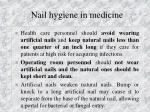 nail hygiene in medicine