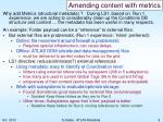 amending content with metrics