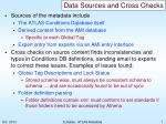 data sources and cross checks