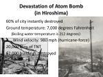 devastation of atom bomb in hiroshima