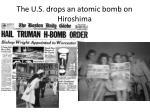the u s drops an atomic bomb on hiroshima