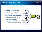 develop an isr plan