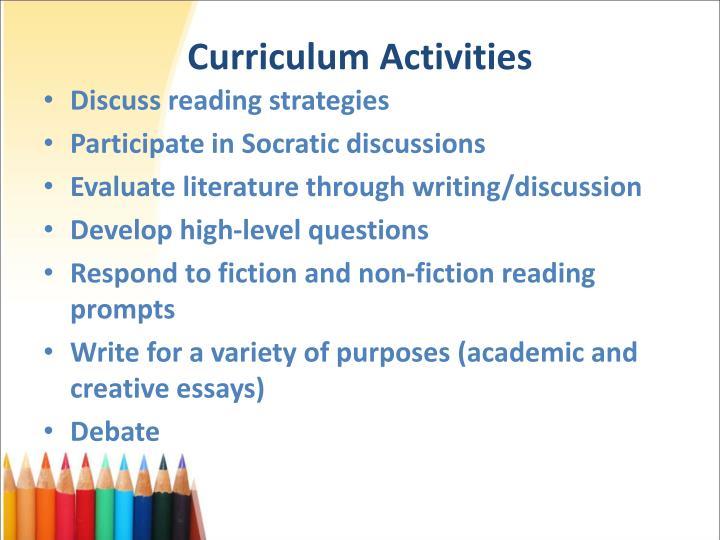 Curriculum Activities