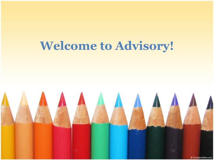 Welcome to Advisory!