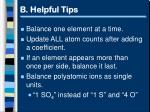 b helpful tips