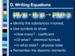 d writing equations