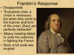franklin s response