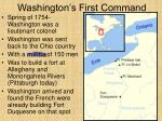 washington s first command