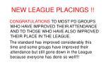 new league placings