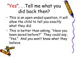 yes tell me what you did back then