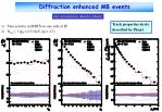 diffraction enhanced mb events1