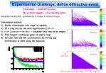experimental challenge define diffractive event