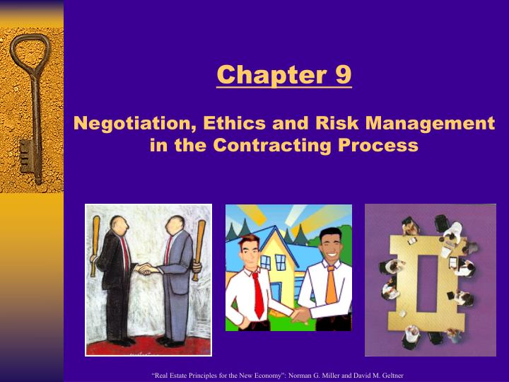 chapter 9 negotiation ethics and risk management in the contracting process n.