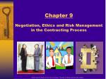 chapter 9 negotiation ethics and risk management in the contracting process