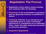 negotiation the process