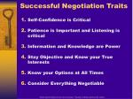 successful negotiation traits