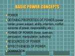 basic power concepts