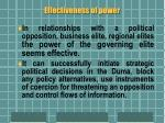 effectiveness of power