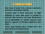 ii forms of power