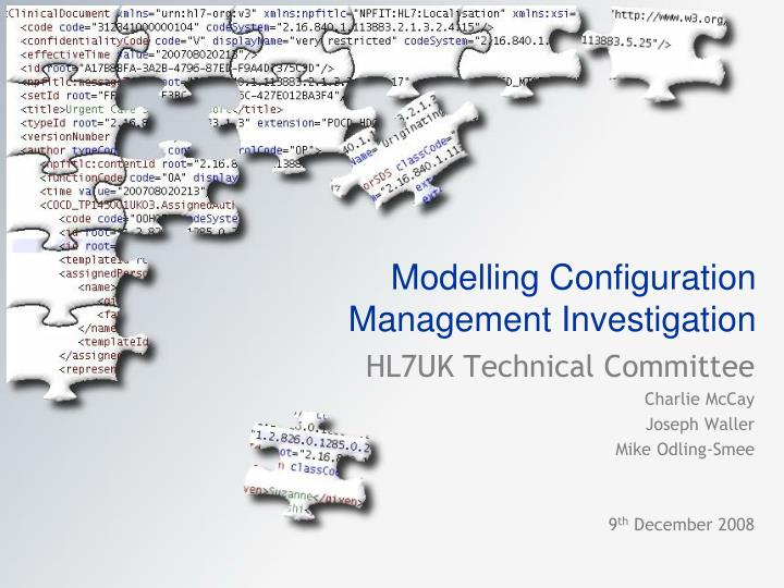 modelling configuration management investigation n.