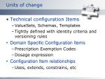 units of change