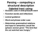 parsing computing a structural description labeled tree using