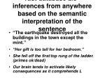 vast database 2 5 inferences from anywhere based on the semantic interpretation of the sentence